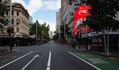 Queen Street during the previous lockdown. (Photo / NZ Herald)