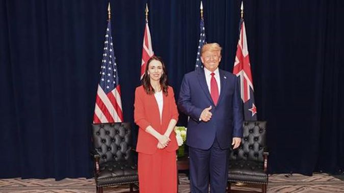 Jacinda Ardern with Donald Trump at the United Nations last year. (Photo / Supplied)