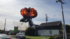 Huge fireball explodes into sky after blaze at Palmerston North building