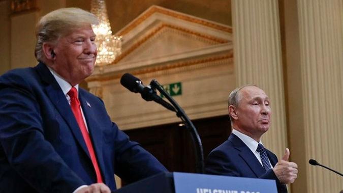 Donald Trump with Vladimir Putin. (Photo / AP)