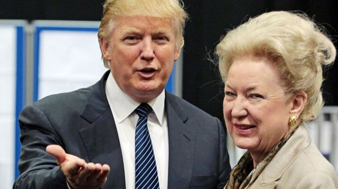 President Donald Trump and his sister Maryanne. (Photo / Getty)
