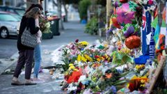 Flowers outside Al Noor Mosque after the shootings last year. (Photo / File)
