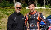Hayden Paddon with father Chris Paddon. Photo / Geoff Ridder