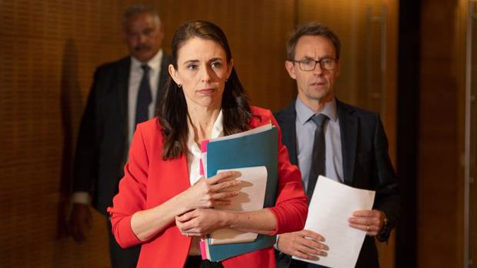Prime Minister Jacinda Ardern said she was told about the incorrect messaging late this morning and made it clear it needed to be fixed. Photo / Mark Mitchell