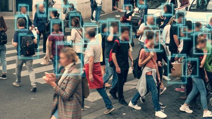 Face detection and recognition of citizens people, AI collect and analyse human data. (Photo / 123RF)