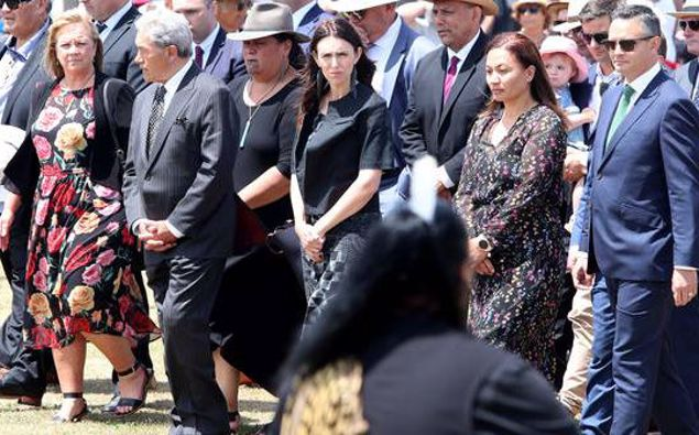 Winston Peters and James Shaw with Jacinda Ardern at the start of 2020. (Photo / NZ Herald)