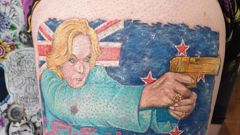 Judith Collins as you've never seen her before. Photo / Dave Mouat