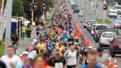 Rotorua Marathon runners in 2018. (Photo / File)