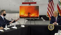 Donald Trump questions climate science during California wildfire briefing