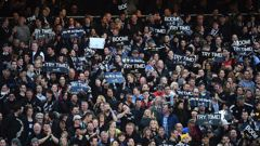Fans and supporters at Eden Park during a Bledisloe Cup clash. (Photo / Photosport0
