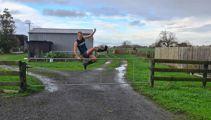 Jack Keeys: Running a marathon in gumboots for charity