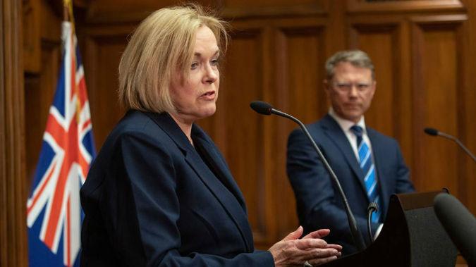Judith Collins and Paul Goldsmith. (Photo / NZ Herald)