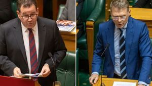 Finance Minister Grant Robertson and National's finance spokesman Paul Goldsmith. (Photo / NZ Herald)