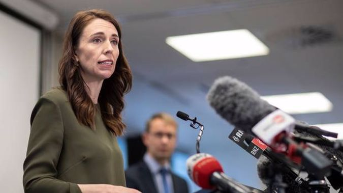 PM Jacinda Ardern and Ashley Bloomfield talk with media on Monday in Auckland about Covid levels and restrictions around New Zealand. Photo / Greg Bowker