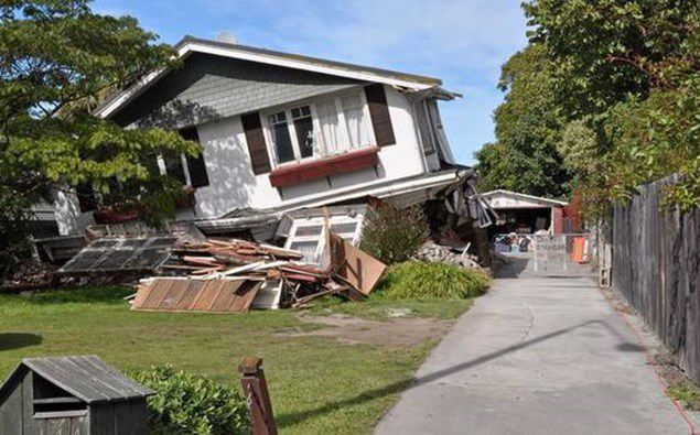An Avonside house damaged in the February 22 Canterbury earthquake, 2011. Photo / 123RF