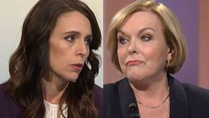 Jacinda Ardern and Judith Collins. (Photo / TVNZ)
