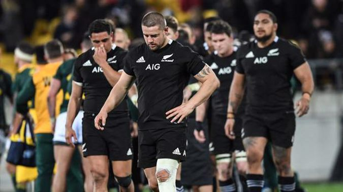 All Blacks players dejected. Photo / Photosport