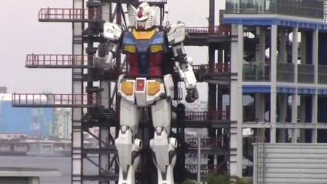 Japan shows off 60 foot tall working Gundam robot