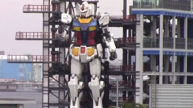 The robot will stand in the city of Yokohama, south of Tokyo. (Photo / Twitter)