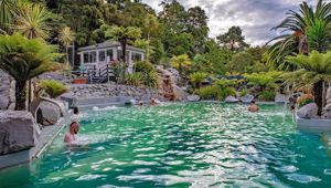 The family visited the Taupo hot pools. (Photo / File)