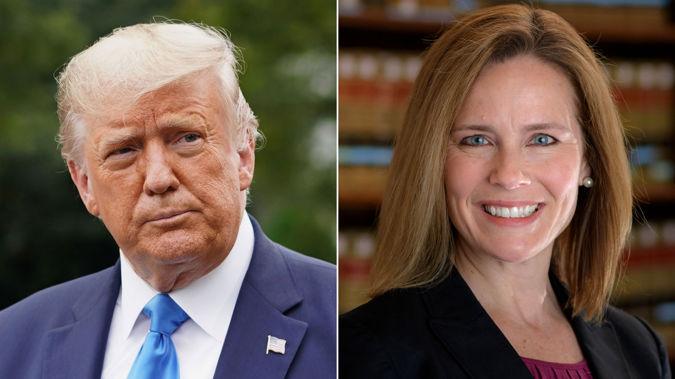 President Donald Trump has nominated Amy Coney Barrett, a conservative federal appeals court judge. (Photo / CNN)
