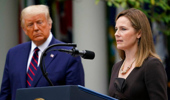 Judge Amy Coney Barrett speaks after President Donald Trump announced Barrett as his nominee to the Supreme Court. (Photo / AP)