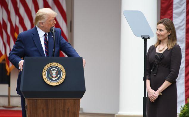 President Donald Trump and Amy Coney Barrett. (Photo / Getty)