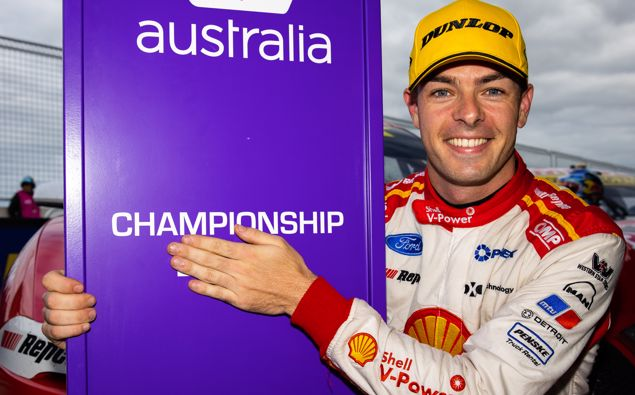 Scott McLaughlin has won the 2020 Supercars driver's championship. (Photo / Getty)