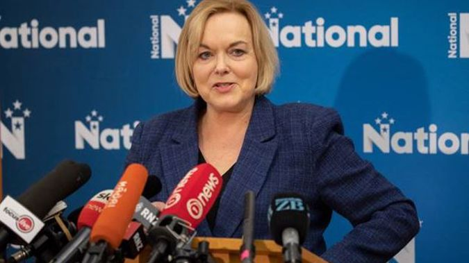 National Party leader Judith Collins says National voters worried about the Greens in government should vote National, not Labour. Photo / Mark Mitchell