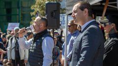 Advance NZ co-leaders Billy Te Kahika Jr and Jami-Lee Ross. (Photo / NZ Herald)
