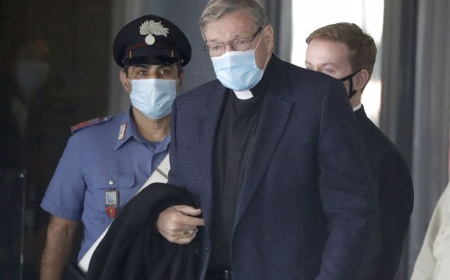 Australian Cardinal George Pell arrives at Rome's international airport in Fiumicino. (Photo / AP)
