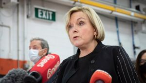 Judith Collins says she will door-knock big business to get wage subsidy back. (Photo / NZ Herald)
