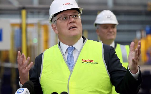 Prime Minister Scott Morrison says the Federal Government is rebuilding Australia's economy for the future through its JobMaker economic plan. Picture: Kelly Barnes/Getty ImagesSource:Getty Images
