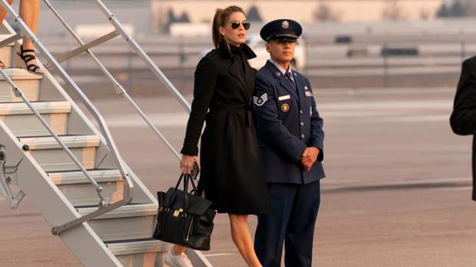 Adviser Hope Hicks arrives with President Donald Trump at Reno-Tahoe International Airport in Nevada on September 12. Photo / Andrew Harnick / AP