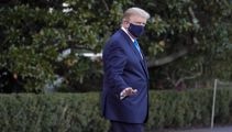 Thumbs-up from Trump as he's flown to hospital amid virus battle
