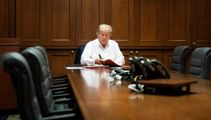 Trump's doctor upbeat despite blood oxygen level drops