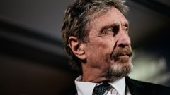 John McAfee, seen here during a Bloomberg Television interview in Hong Kong on Sept. 20, 2017, has been indicted for tax evasion. (Photo / Getty)