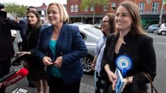 National Party leader Judith Collins along with Auckland Central candidate Emma Mellow during their walkabout on Ponsonby Road, in Auckland, yesterday. Photo / Brett Phibbs