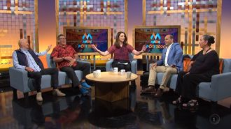 TVNZ host reprimands panelists for 'acting like children'