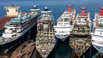 Photos reveal cruise ships being torn apart after coronavirus sell off