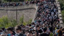 What pandemic? Crowds swarm the Great Wall of China