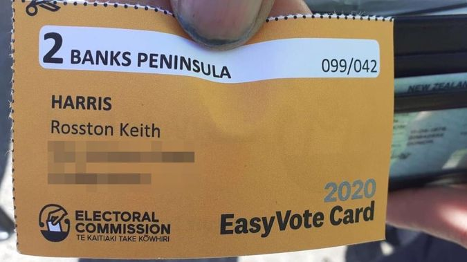 Rosston Keith Harris was sent his easy vote card - but he died 16 years ago. Photo / Supplied