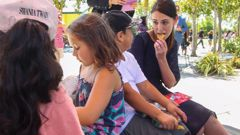Prime Minister Jacinda Ardern launched the pilot free lunch programme at Flaxmere Primary School in Hawke's Bay in February. (Photo / Paul Taylor)