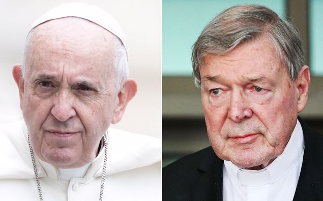 Pope Francis and Cardinal Pell. (Photo / CNN)