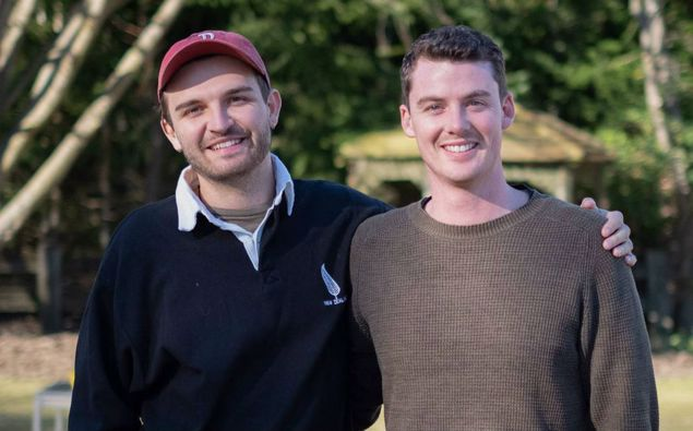 Asher Pilbrow (left) and Sam Brough. Photo / Supplied