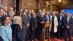 National's caucus. (Photo / File)