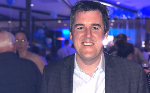 Chris Bishop at his election event at The Victoria Tavern in Petone. Photo / Georgina Campbell