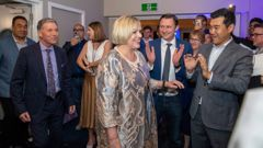 National leader Judith Collins arriving at National's election night HQ at the Royal NZ Yacht Squadron in Westhaven, Auckland. 17 October, 2020. NZ Herald photograph by Mark Mitchell