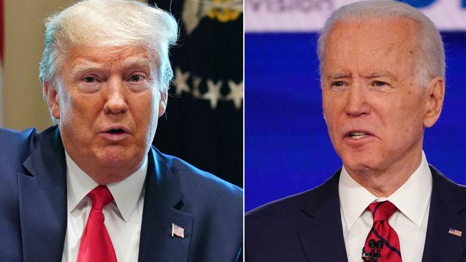 Donald Trump and Joe Biden. (Photo / File)