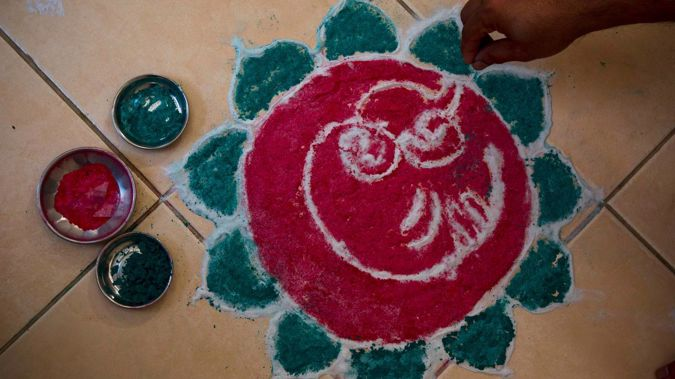 Rangoli art will be part of this year's revised Diwali Festival celebrations. Photo / NZ Herald